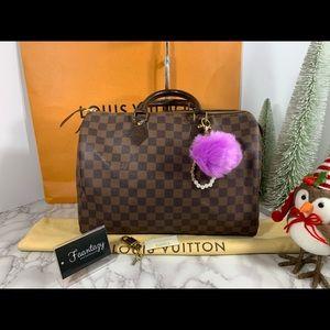 Auth Louis Vuitton speedy 35
